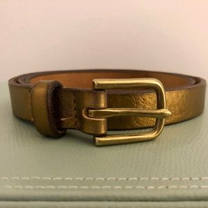 J.Crew Metallic Classic Leather Belt